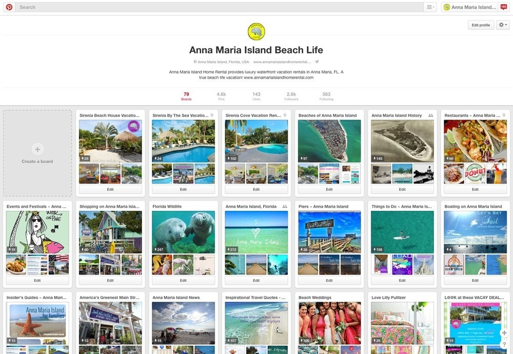 Example of a Vacation Rental Using Pinterest